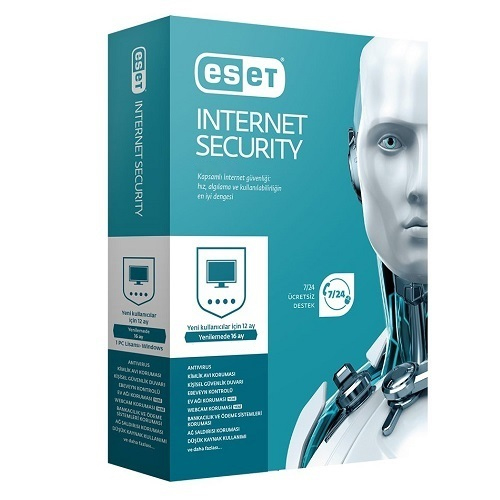 ESET NOD32 Internet Security Türkçe 5 Kullanıcı 1 Yıl Box