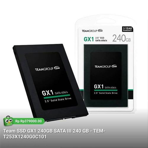 TEAM GX1 2.5 240GB SSD SATA3 530/480 T253X1240GOC101