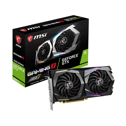MSI 6GB GTX 1660 TI GeForce GDDR6 192 Bit GEFORCE GTX 1660 TI GAMING X 1XHDMI 3XDP DX12 PCIE 3.0 X16