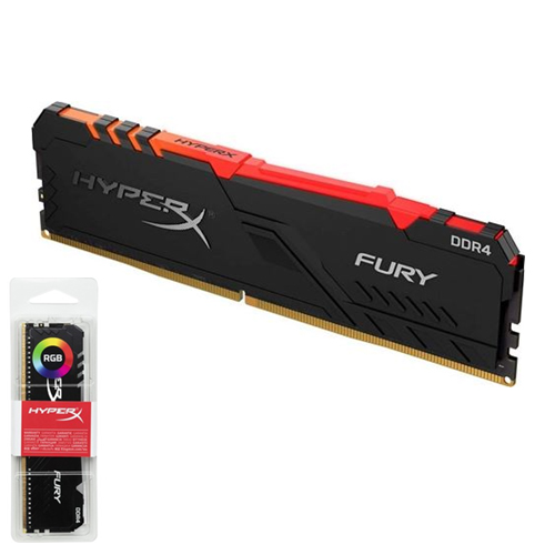 KINGSTON Hyperx Fury RGB 16GB 3200Mhz DDR4 Soğutuculu CL16 Pc Ram HX432C16FB3A/16