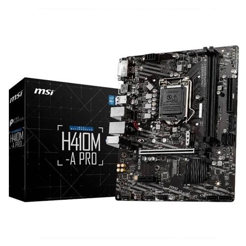 MSI INTEL H410M-A PRO DDR4 2933 DVI HDMI SOKET 1200 M.2 USB 3.2 MATX