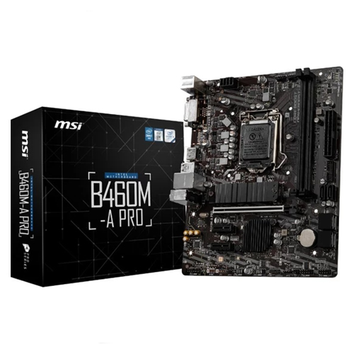 MSI INTEL B460M-A PRO DDR4 2933 DVI HDMI SOKET 1200 M.2 USB 3.2 MATX