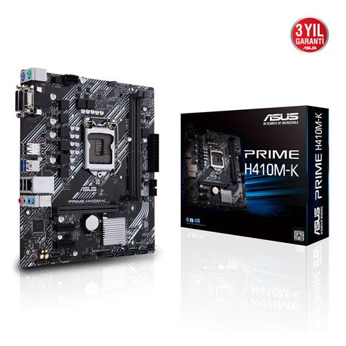 ASUS INTEL PRIME H410M-K DDR4 2933 VGA+DVI-D 1200P mATX (10. Nesil)