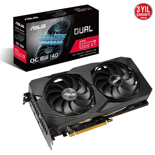 ASUS AMD 8GB RX5500XT GDDR6 128 Bit ROG-STRIX-RX5500XT-O8G-GAMING HDMI 3xDP 16X