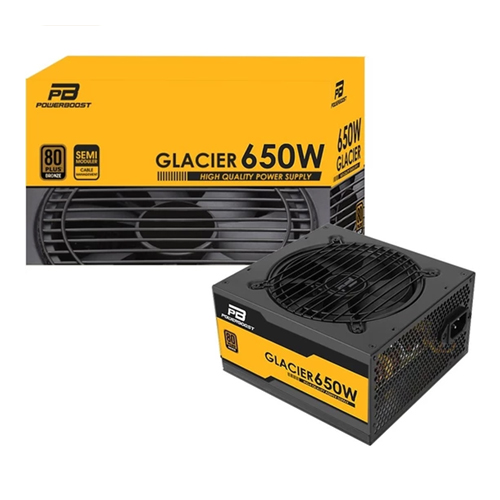 POWERBOOST GLACıER BST-ATX650B 650W 80+ Bronze Atx Power Supply Kutulu