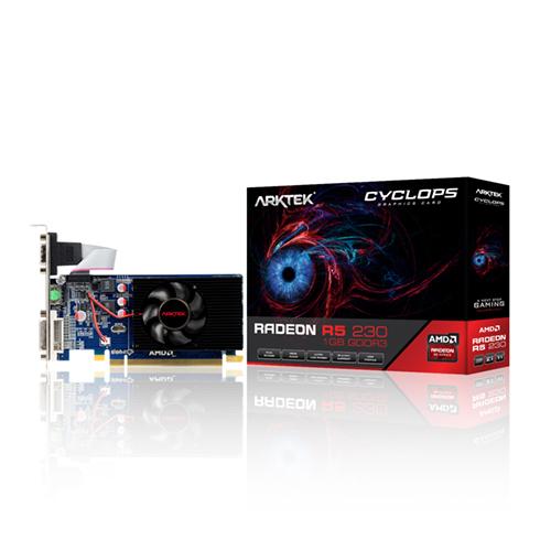 ARKTEK AMD 1GB R5 230 DDR3 64 Bit HDMI DVI VGA 16X (PCIe 2.0) Low Profile