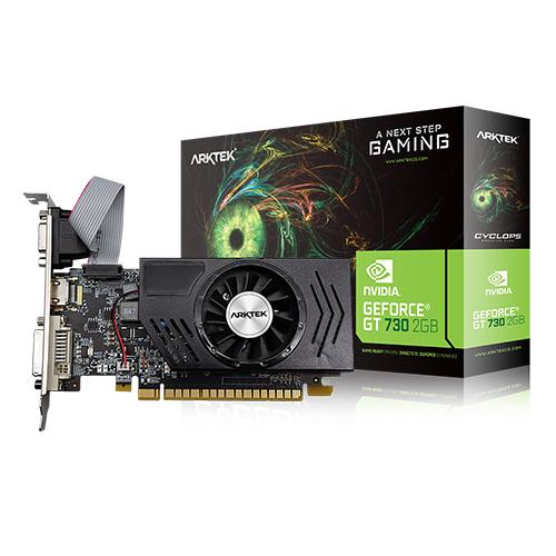 ARKTEK Nvidia 2GB GT730 DDR3 128 Bit HDMI DVI VGA 16X (PCIe 2.0) Low Profile