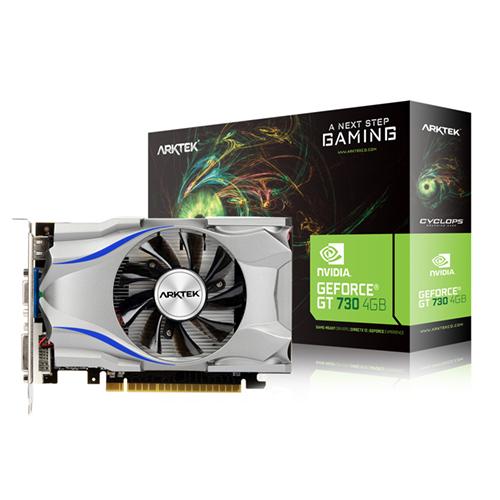 ARKTEK Nvidia 4GB GT730 DDR3 128 Bit HDMI DVI VGA 16X (PCIe 2.0) Low Profile