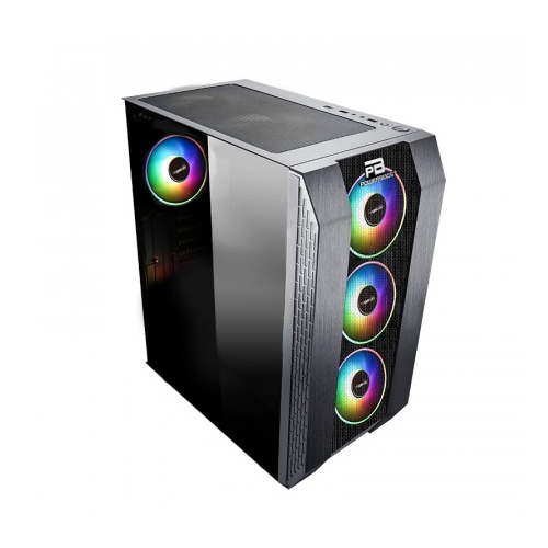 PowerBoost VK-P3305B 500W . Siyah USB 3.0, Mesh, Fixed Led fan Atx Kasa