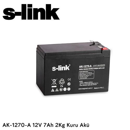S-LINK AK-1270A 12V 7 Ah 2kg kuru Akü