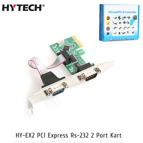 Hytech HY-EX2 2 Port Pcı Express To Rs232 Pcı Express Kart