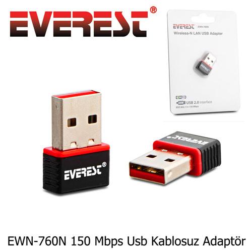 EVEREST EWN-760N 150Mbps USB Kablosuz Adaptör