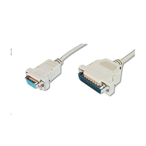 S-LINK ( 1.5 Metre ) (Erkek/ Dişi) D-Sub25 Erkek - DB9 Dişi Yazıcı Kablosu
