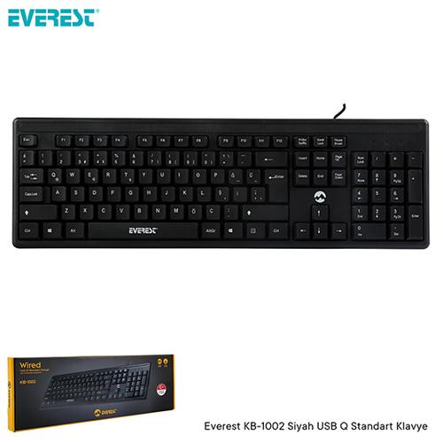 EVEREST KB-1002 Q Usb Standart Siyah Klavye
