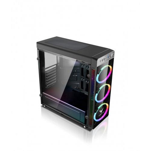 ASUS VENTO VG05F PSU Yok 3*RGB Fan + Uzakdan Kumanda Siyah Atx Gaming Kasa Temper Cam