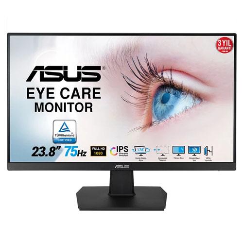 ASUS 23.8 VA24EHE IPS LED 5Ms 75Hz HDMI,DVI-D,D-SUB Full HD Led Monitör Siyah