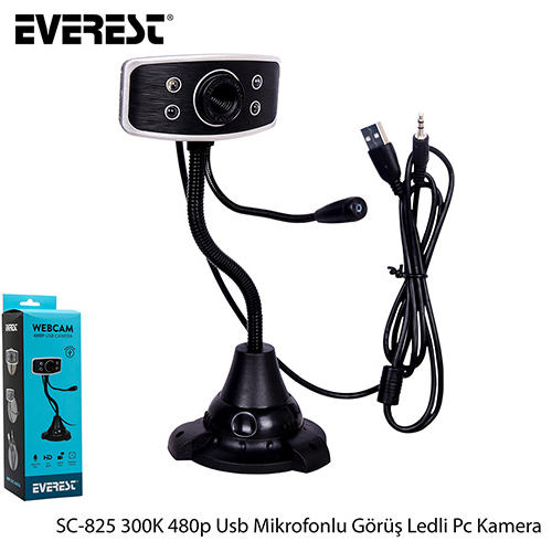 EVEREST SC-825 300K 480P USB MIKROFONLU WEBCAM