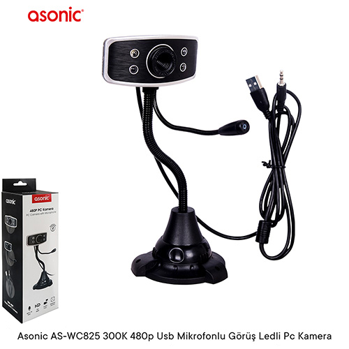ASONİC AS-WC825 300K 480P USB MIKROFONLU WEBCAM