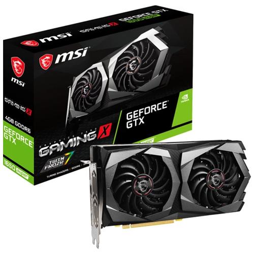 MSI 4GB GTX1650 GEFORCE GDDR6 128 Bit GTX 1650 SUPER GAMING X 1XHDMI 3XDP DX12 PCIE 3.0 X16
