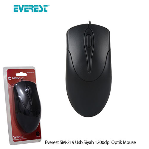 Everest SM-219 Usb Optic Siyah Mouse
