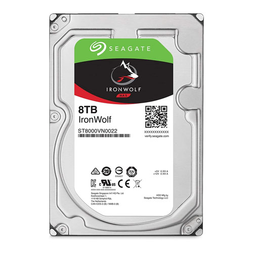 SEAGATE 3.5 IRONWOLF 8TB 7200RPM 256MB SATA3 NAS HDD ST8000VN022