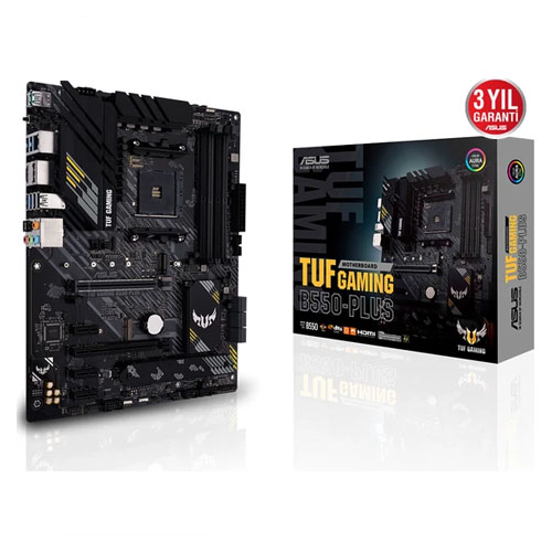 ASUS AMD TUF GAMING B550-PLUS B550 DDR4 4600(OC) HDMI DP GLAN AM4 M.2 USB 3.2 Gen1, Gen2