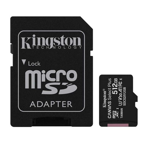 KINGSTON 512GB Canvas Select Plus MICRO SDHC Class10