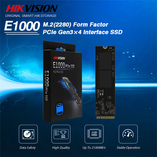 HIKVISION E1000 1TB Ssd Disk M.2 NVMe PCIe 2100/1800MB/s