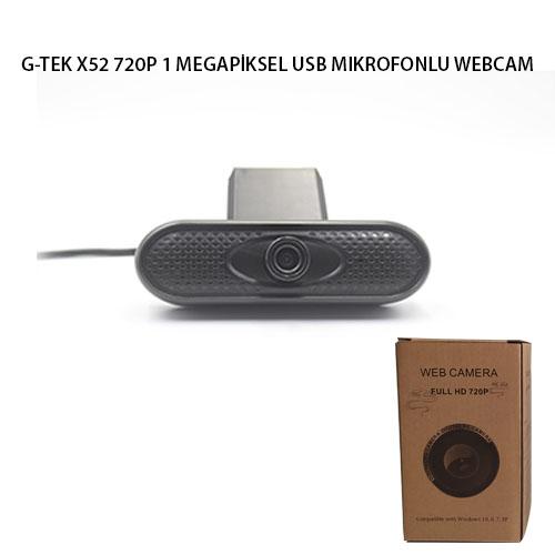 G-TEK X52 720P 1 MEGAPİKSEL USB MIKROFONLU WEBCAM