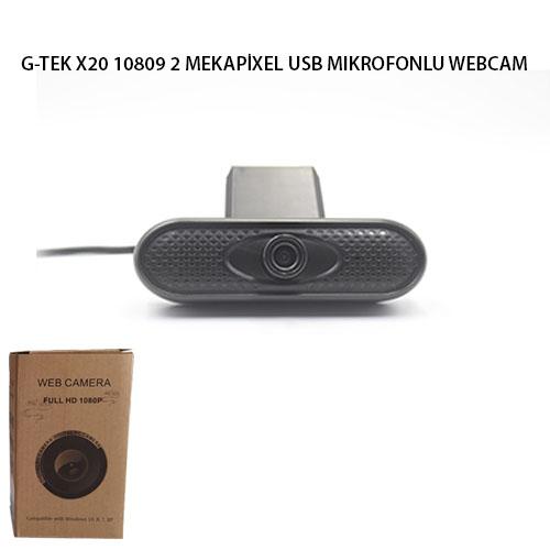 G-TEK X20 1080P 2 MEGAPİKSEL USB MIKROFONLU WEBCAM