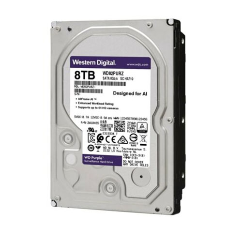 WD 3.5 PURPLE 8TB 7200RPM 256MB SATA3 Güvenlik HDD WD82PURZ (7/24)