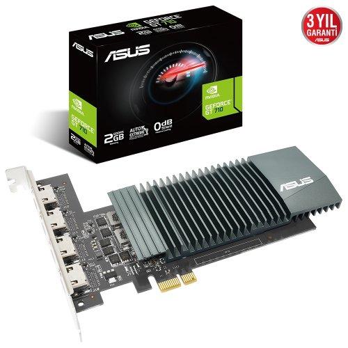 ASUS Nvidia 2GB GT710 LOW PROFILE GDDR5 64 Bit GT710-4H-SL-2GD5 4xHDMI