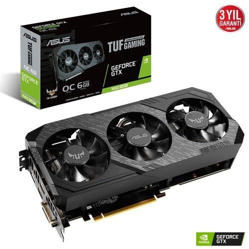 ASUS Nvidia 6GB GTX1660 TUF SUPER GDDR6 192 Bit TUF-GTX1660S-O6G-GAMING HDMI DVI DP