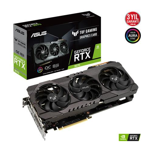 ASUS Nvidia 8GB RTX3070 TUF GDDR6 256 Bit TUF-RTX3070-O8G-GAMING 2xHDMI 3xDP