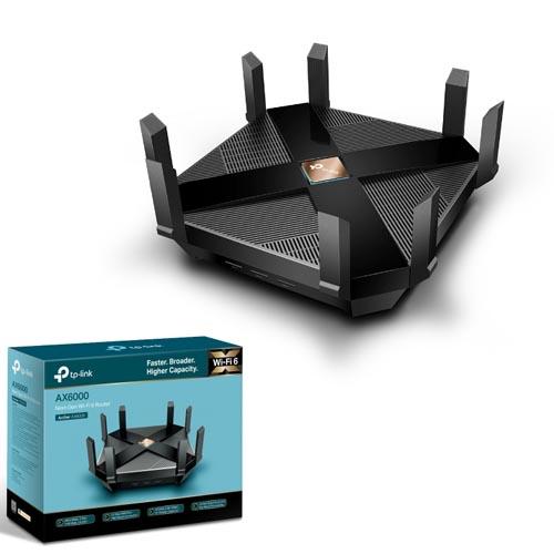 TP-LINK Archer AX6000 6000Mbps 8x GLan + 1x Wan Kablosuz-Ethernet-USB Wi-Fi 6 Gaming Router (Next-Gen)