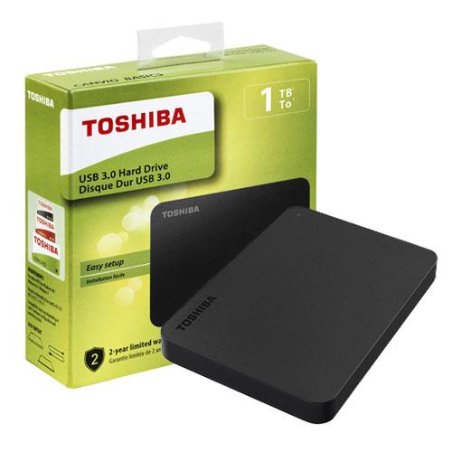 TOSHIBA 2.5 CANVIO BASIC 1TB USB 3.0 Harici Disk SİYAH HDTB410EK3AA