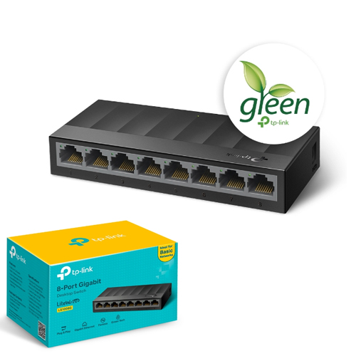 TP-LINK LiteWave 8 Port LS1008G 10/100/1000 Gigabit Plastik Kasa Switch