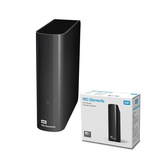 WD 3.5 ELEMENTS 10TB USB 3.0 EXTERNAL HDD SİYAH WDBWLG0100HBK-EESN