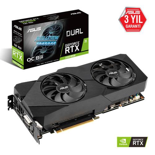 ASUS Nvidia 8GB RTX2060S DUAL GDDR6 256 Bit DUAL-RTX2060S-O8G-EVO 2xHDMI 2xDP DVI