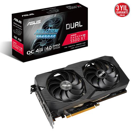 ASUS AMD 4GB RX5500XT DUAL OC GDDR6 128 Bit DUAL-RX5500XT-O4G-EVO HDMI 3xDP 16X