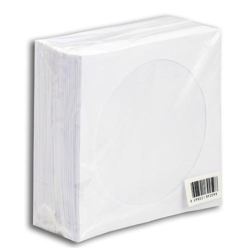 Elba CDDVD Zarfı Beyaz 80gr 100 lü Paket Pencereli