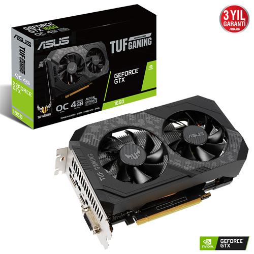 ASUS Nvidia 4GB GTX1650 TUF GDDR6 128 Bit TUF-GTX1650-O4GD6-P-GAMING HDMI DVI DP