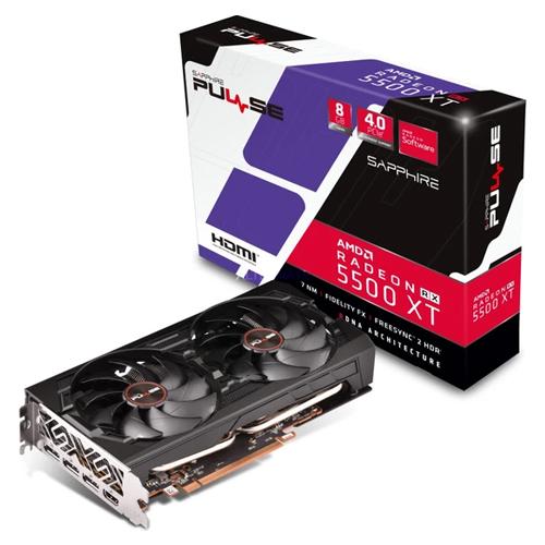 SAPPHIRE AMD 8GB RX5500XT PULSE GDDR6 128 Bit 11295-01-20G HDMI 3xDP 16X