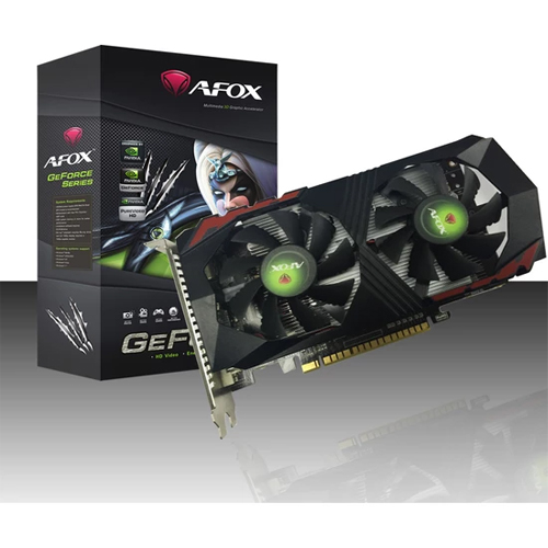 AFOX Nvidia 4GB GTX1050 Ti GeForce DDR5 128 Bit HDMI DVI DP 16X (PCIe 3.0)