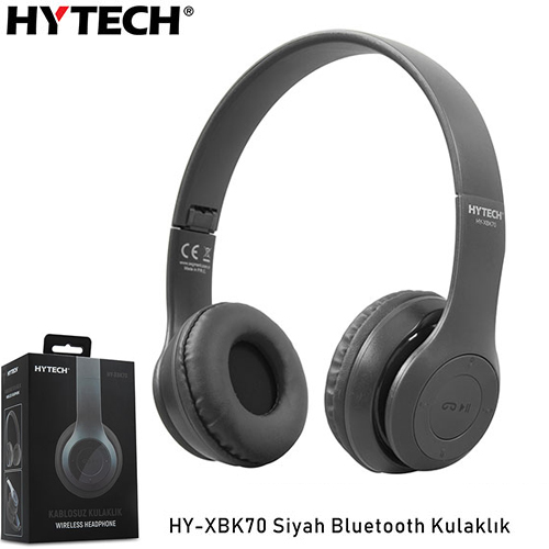 Hytech HY-XBK70 TF Kart Özellikli Bluetooth Kulaklık Siyah