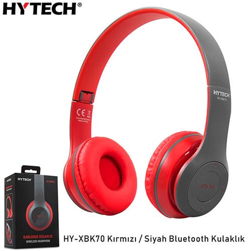Hytech HY-XBK70 TF Kart Özellikli Bluetooth Kulaklık Kırmızı/Siyah