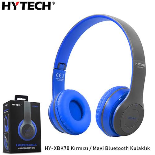 Hytech HY-XBK70 TF Kart Özellikli Bluetooth Kulaklık Siyah/Mavi