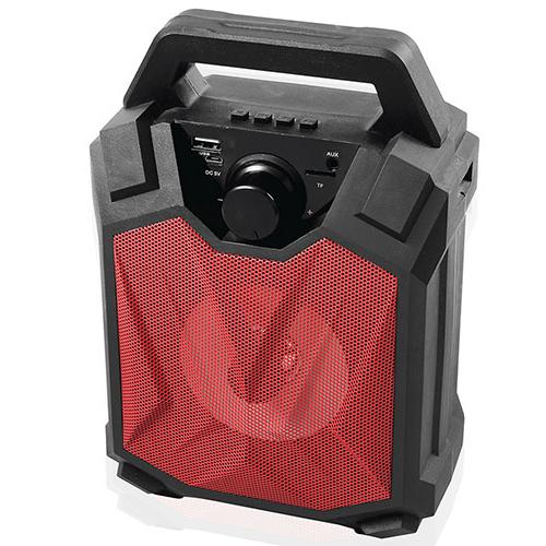 MIKADO MD-5BT X-Life 5W 1200mAh SD Cart USB+Bluetooth Siyah/Kırmızı Kablosuz MP3 Oynatıcı Hoparlör