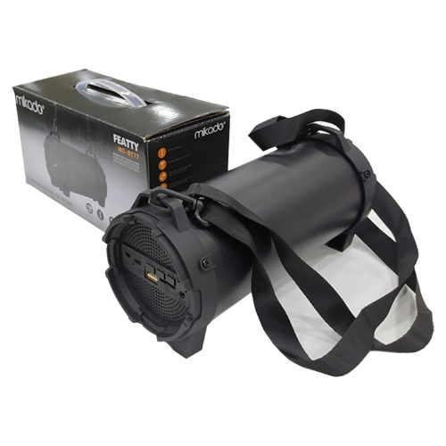 MIKADO MD-BT77 Aux+Usb+FM+BT+TF Kartlı Siyah Kablosuz MP3 Oynatıcı Hoparlör