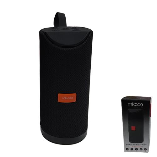 MIKADO MD-BT66 3.7V 1200mAh Aux+Usb+FM+BT+TF Kartlı Siyah Kablosuz MP3 Oynatıcı Hoparlör